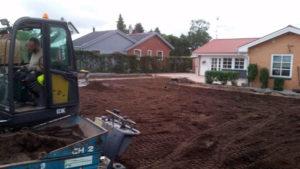 Ny græsplæne anlægges